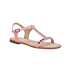 Clarks - Pink patent Sail Festival flat sandal