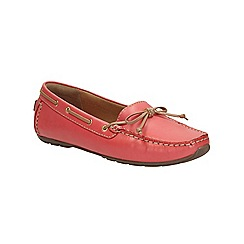 Clarks - Coral leather Dunbar Grooveflat boat shoe