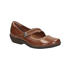 Clarks - Tan leather Ordell Becca flat casual shoe