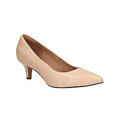Clarks - Nude leather Sage Copper low heeled strappy sandal