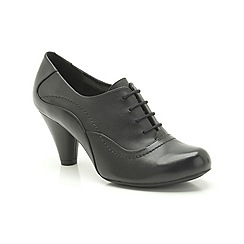 Clarks - Black Leather Coolest Fruit Mid heeled trouser shoe