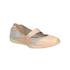 Clarks - Grey combi Amorie Dance flat sports shoe