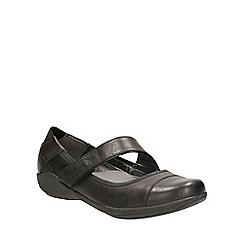 Clarks - Black leather Indigo Charm slip on pump