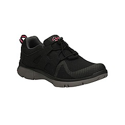 Clarks - Black Luminate Trace lace up sport shoe