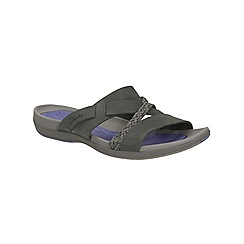 Clarks - Black Tealite Slide slip on sporty sandal