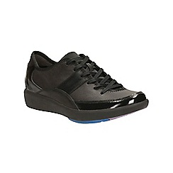 Clarks - Black leather Wave Flare lace up sport shoe
