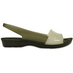 Crocs - Colour block flat in black and stucco