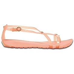 Crocs - Pale pink strappy flip flops