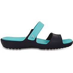 Crocs - Navy relaxed bar sandals