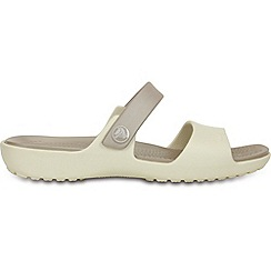 Crocs - Coretta  sand in oyster and platinum