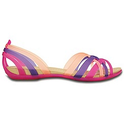 Crocs - Purple multi strap sandals