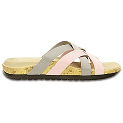 Crocs - Edie stretch sandal in platinum and pearl pink
