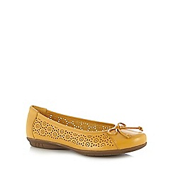 Hotter - Mustard circle cutout leather shoes