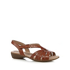 Hotter - Tan leather slingback low sandals
