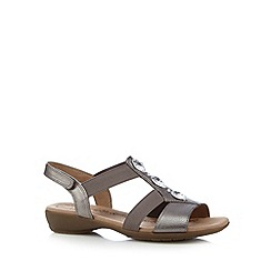Hotter - Bronze leather stone sandals