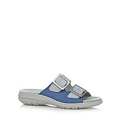 Hotter - Blue leather buckle sandals