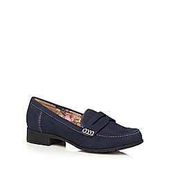 Hotter - Navy suede low heel loafers