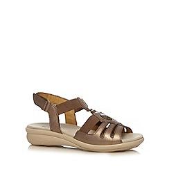 Hotter - Metallic flower charm leather sandals