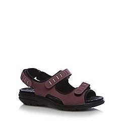 Hotter - Light purple strap leather sandals