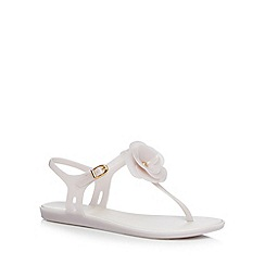 Mel - Off white 3D flower sandals