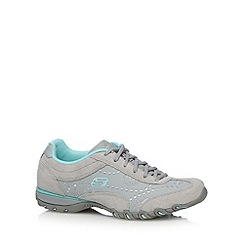 Skechers - Grey 'Speedsters' memory foam trainers