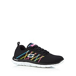 Skechers - Black 'SKX-Flex Appeal-Something Fun' memory foam trainers