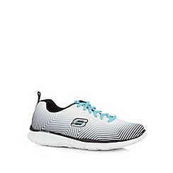 Skechers - White 'SKX-Equalizer-Expect Miracle' memory foam trainers