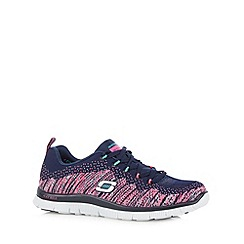 Skechers - Navy flex appeal 'Talent Flair' memory foam trainers