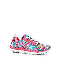 Skechers - Pink 'Floral Bloom' memory foam trainers