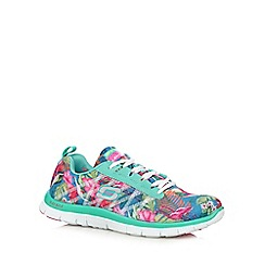 Skechers - Light turquoise 'Floral Bloom' trainers