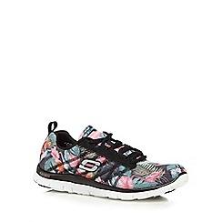 Skechers - Black 'Floral Bloom' trainers