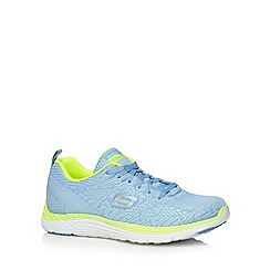 Skechers - Light blue 'Valeris' memory foam trainers
