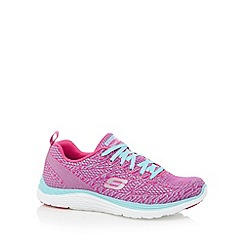 Skechers - Bright pink 'Valeris' memory foam trainers