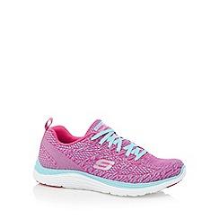 Skechers - Bright pink 'Valeris' memory foam trainers