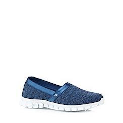 Skechers - Navy 'Flex 2-Bankroll' memory foam pumps