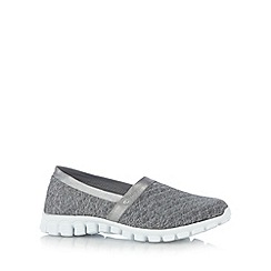 Skechers - Grey 'Flex 2-Bankroll' memory foam pumps