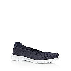 Skechers - Navy 'Flex 2-Yes Please' memory foam pumps