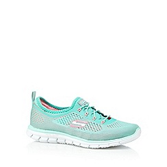 Skechers - Light green 'Glider' memory foam trainers