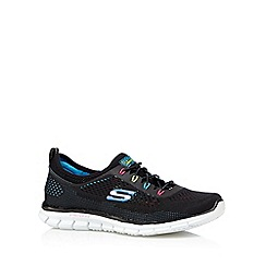 Skechers - Black 'Glider' lace up memory foam trainers