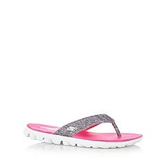 Skechers - Bright pink 'On-The-Go-Flow' flip flops