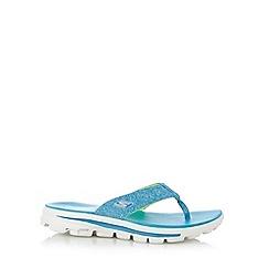 Skechers - Turquoise 'Move-Solstice' flip flops