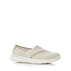 Skechers - Natural 'Go Walk-City' pumps