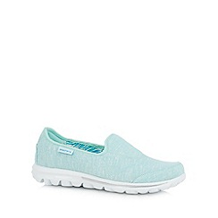 Skechers - Light green 'Gowalk Snapshot' memory foam shoes