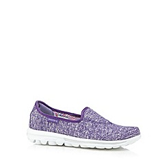 Skechers - Purple 'Gowalk Snapshot' memory foam shoes