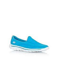 Skechers - Turquoise 'Gowalk 2   Super Sock' shoes