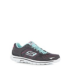 Skechers - Dark grey 'Go Walk 2 Flash' trainers
