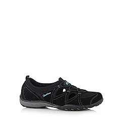 Skechers - Black 'Breathe Easy-Carefree' suede memory foam trainers