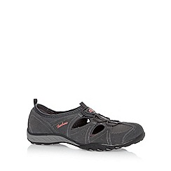 Skechers - Dark grey 'Breathe Easy-Carefree' suede memory foam sandals