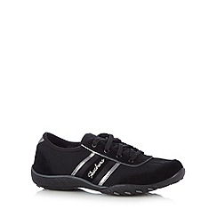 Skechers - Black 'Cool It' suede memory foam trainers
