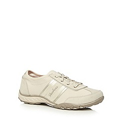 Skechers - Natural 'Cool It' suede memory foam trainers
